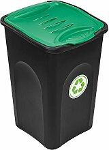 PAFEN Mülleimer 50l für Recycling - Mülltonne