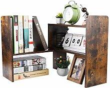 PAG Schreibtischregal, verstellbar, Holz, kleines