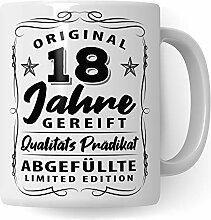 Pagma Druck 18. Geburtstag Tasse, Geschenk zum 18