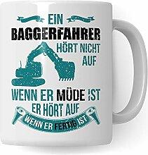 Pagma Druck Bagger Tasse, Baggerfahrer Geschenk