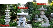Pagode + Yukimi + Rankei  japanische Steinlaternen