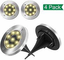 Pahajim 8 LEDs Solar Bodenleuchte,Edelstahl