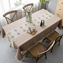 Pahajim Moderne Baumwollleinen Tischdecke
