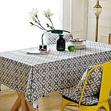 Pahajim Moderne modische Gitter-Tischdecke,