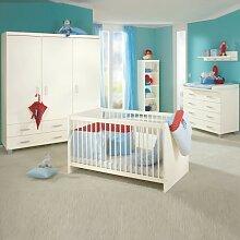 PAIDI Babyzimmer Biancomo - Kinderbett, Kommode,