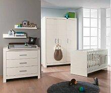 Paidi Fiona Babyzimmer 4 teilig Paidi Fiona Babyzimmer 4 teilig Bett Schrank Wickelaufsatz Kleiderschrank 3 türig in kreideweiß