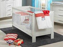 Paidi Mees Babybett Bett in Scandic Wood weiß Nachbildung Kinderbett zum Juniorbett umbaubar
