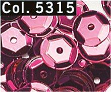 Pailletten cup 6 mm Mittelloch Röhrchen 9 g Farbe