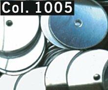 Pailletten flach 10 mm Mittelloch Röhrchen 9 g