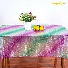 Pailletten-Tischdecke Regenbogen-Tischdecken für