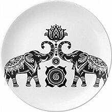 Paint Elefant Freund Zwei Happy Porzellan