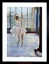 PAINTING DEGAS DANCER BEING PHOTO ED FRAMED PICTURE ART PRINT F97X8383