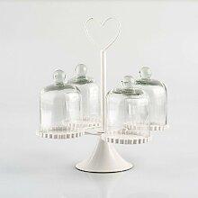 Pajoma 10515 Kuchenglocken Cupcake Glas und Metall Höhe 9 cm