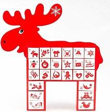 pajoma Adventskalender Rudolph aus Holz,