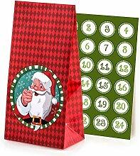 pajoma Adventskalender Santa Claus, 1 x 24 Tüten
