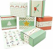 pajoma DIY Adventskalender, 1 x 24 Schachteln zum