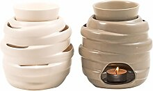 pajoma Duftlampe Luise, Keramik, 2er Se