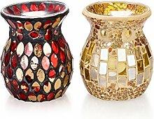 pajoma Duftlampe Mosaik, 2er Se