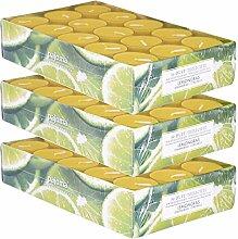 pajoma Duftteelicht Lemongras, 90 Stück (3 x 30er