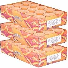 pajoma Duftteelicht Mango-Orange, 90 Stück (3 x