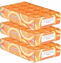 pajoma Duftteelicht Orange, 90 Stück (3 x 30er