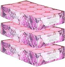 pajoma Duftteelicht Rosenblüte, 90 Stück (3 x