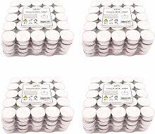 Pajoma Teelichter Weiss unbeduftet 400 Stück,