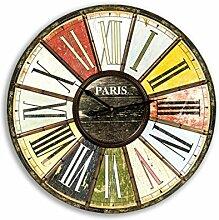 Pajoma Wanduhr Paris, Holzfaser/Metall, D 60 cm