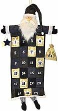 Pajoma XXL Adventskalender Santa, 24 Taschen zum