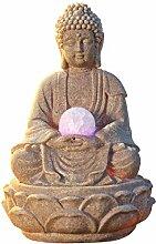 pajoma Zimmerbrunnen Buddha Lotus, mit LED