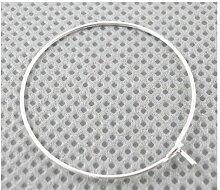 Paket 30 x Silber Messing 0.8mm x 25mm Weinglas Charme Ringe - (HA13200) - Charming Beads
