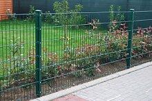 Paket-Preis 50m Zaun 830mm Höhe RAL6005/grün Doppelstabmattenzaun, Gartenzaun, Metallzaun, Zäune, Tor, Gartentor,