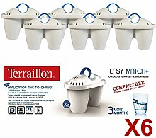 Paket x 6 Filterpatronen EasyMatch + TERRAILLON