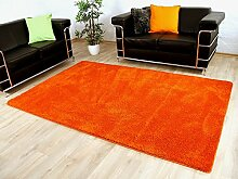 Palace Hochflor Shaggy Teppich Orange in 24