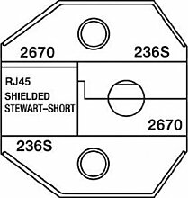 Paladin Werkzeuge pa26701300/8000Serie austauschbar RJ45sterben mit geschirmt Stewart Stamping