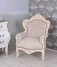 Palazzo BAROCK SESSEL VINTAGE SHABBY CHIC WEISS