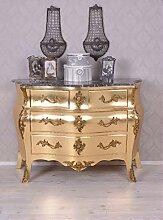 PALAZZO INT Barocke Kommode Gold Rokoko Schrank