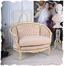 PALAZZO INT FRANZÖSISCHES SALON SOFA VINTAGE KANAPEE BOUDOIR SHABBY CHIC SESSEL Palazzo Exclusiv