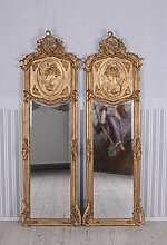 PALAZZO INT Zwei Wandspiegel Barock Spiegel Gold