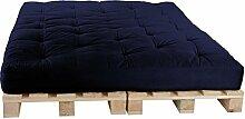 Palettenbett 160 x 240 cm Komplett mit Paletten, Farbe: F010 Marineblau