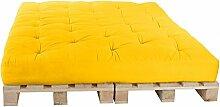 Palettenbett 160 x 240 cm Komplett mit Paletten, Farbe: F012 Gelb