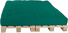 Palettenbett 160 x 240 cm Komplett mit Paletten, Farbe: F020 Mintgrün