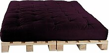 Palettenbett 160 x 240 cm Komplett mit Paletten, Farbe: F026 purpur
