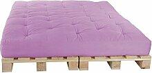Palettenbett 160 x 240 cm Komplett mit Paletten, Farbe: F030 Flieder