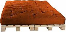 Palettenbett 160 x 240 cm Komplett mit Paletten, Farbe: F075 Terracotta