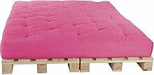 Palettenbett 160 x 240 cm Komplett mit Paletten, Farbe: F089 Pink