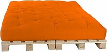 Palettenbett 160 x 240 cm Komplett mit Paletten, Farbe: F14 Orange