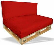 Palettenkissen 2er Set - Sitzpolster 120x80x15cm +