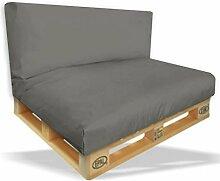 Palettenkissen Sitzpolster 2er Set - 120x80x15cm +