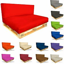 Palettenkissen Sitzpolster Set - 2er Set